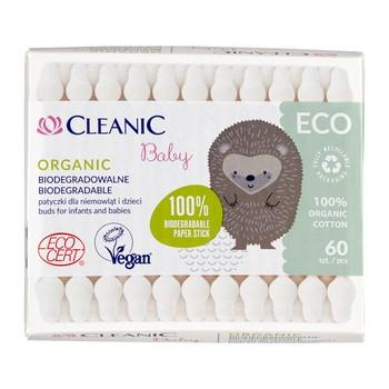 Cleanic Eco Baby patyczki higeniczne dla niemowląt i dzieci, 60 szt.