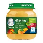 Gerber Organic, deser jabłko, brzoskwinia, morela, 4 m+, 125 g