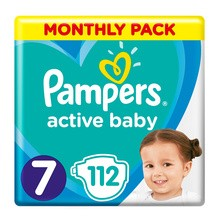 Pampers Active Baby 7, (15+ kg), 112 szt.