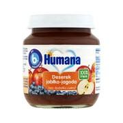 Humana 100% Organic Deserek jabłko-jagoda, 6 m+, 125 g