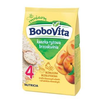 BoboVita, kaszka ryżowa, brzoskwinia, 4 m+, 180 g