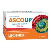 Ascolip Liposomalna witamina C 500 mg, smak wiśni, saszetki, 30 szt.