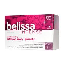Belissa Intense, tabletki na włosy, skórę i paznokcie, 50 szt.