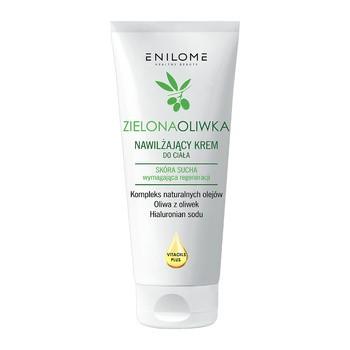 Enilome Healthy Beauty Zielona Oliwka, nawilżający krem do ciała, 200 ml