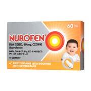 Nurofen dla dzieci, 60 mg, czopki, 10 szt.