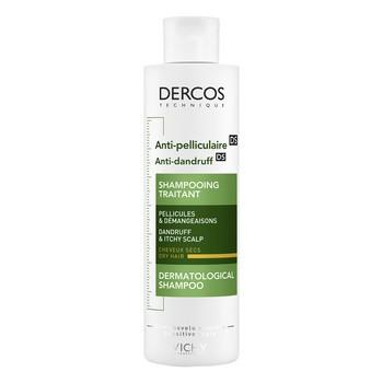 Vichy Dercos, szampon przeciwłupieżowy, włosy suche, 200 ml