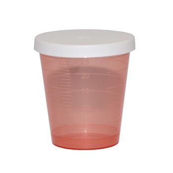 Kieliszek, do odmierzania leków z przykrywką, 30 ml