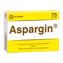 Aspargin, 250 mg + 250 mg, tabletki, 75 szt. (Filofarm)