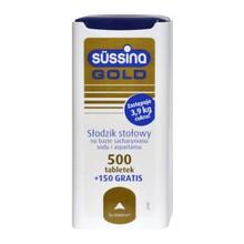 Sussina Gold, słodzik, tabletki, 500 szt. + 150 szt. GRATIS