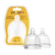 Yoomi, smoczek na butelkę, bardzo wolny przepływ, 0 m+, 2 szt.