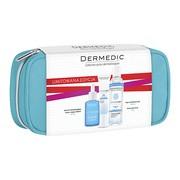 Zestaw Promocyjny Dermedic Hydrain 3, krem pod oczy, 15 g + serum, 30 ml + płyn micelarny, 100 ml + kosmetyczka GRATIS