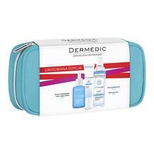 Zestaw Promocyjny Dermedic Hydrain 3, krem pod oczy, 15 g + serum, 30 ml + płyn micelarny, 100 ml + kosmetyczka