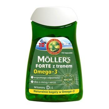 Mollers Forte z tranem, kapsułki, 112 szt.