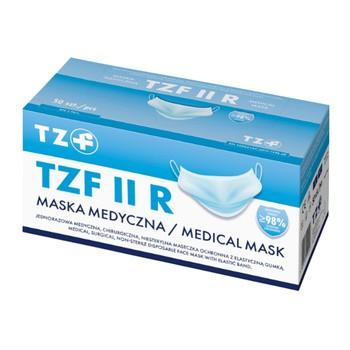 Maska medyczna TZF II R z gumkami, 50 szt.