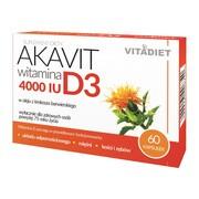 Akavit witamina D3, 4000 IU, kapsułki, 60 szt.