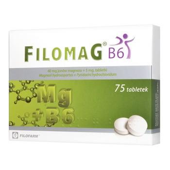 Filomag B6, 40 mg+ 5 mg, tabletki, 75 szt.