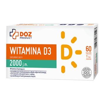 DOZ PRODUCT Witamina D3 2000 j.m., kapsułki, 60 szt.