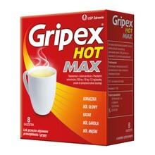 Gripex Hot MAX, proszek do sporządzenia roztworu doustnego, 8 saszetek