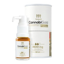 CannabiGold Premium, 1500 mg CBD, 12 ml