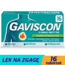 Gaviscon o smaku mięty TAB, tabletki do rozgryzania i żucia, 16 szt.