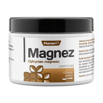Pharmovit Magnez, Cytrynian magnezu, proszek, 250 g (100 porcji)