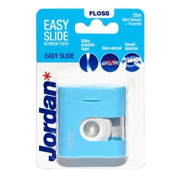 Jordan, Easy Slide, płaska nić do zębów z fluorkiem, 25 m