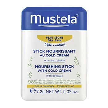 Mustela Bebe-Enfant, sztyft ochronny z Cold Cream i organicznym woskiem pszczelim,  9,2 g