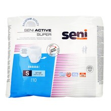 Seni Active Super, majtki chłonne, rozmiar S, 10 szt.