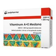 Vitaminum A+E Medana, 2500 j.m.A + 200 mg E, kapsułki, 40 szt.