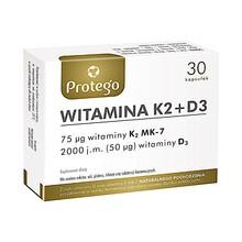 Protego Witamina K2 + D3, kapsułki elastyczne, 30 szt.