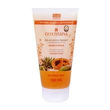 Orientana, naturalny żel do mycia twarzy, z drobinkami ryżu, aloes i papaja, 150 ml