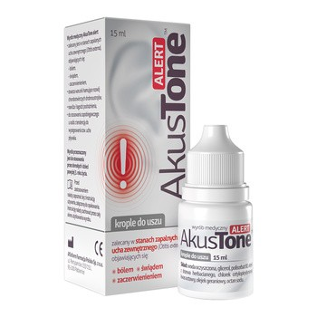 AkusTone ALERT, krople do uszu, 15 ml