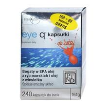 Eye Q, kapsułki do żucia, 240 szt. (180 szt. + 60 szt.)