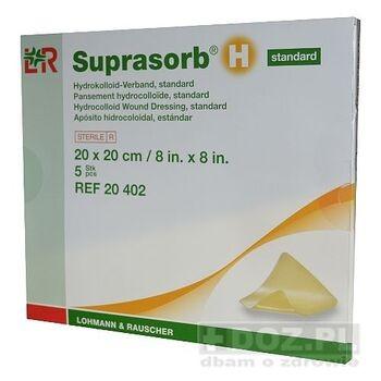 Suprasorb H, standard, opatrunek hydrokoloidowy, 20 x 20 cm, 1 szt.