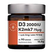 Witamina D3 (2000IU) + K2mk7 + Cynk + Selen, tabletki, 90 szt.