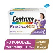 Centrum Femina 2 DHA, 30 tabletki + 30 kapsułki