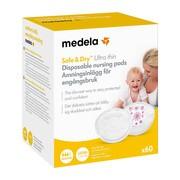 Jednorazowe wkładki laktacyjne Medela Ultra Thin, 60 szt.