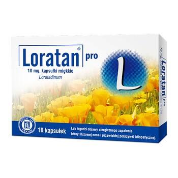 Loratan pro, 10 mg, kapsułki miękkie, 10 szt.