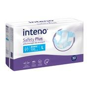 Inteno Safety Plus, pieluchomajtki dla dorosłych, L, 30 szt.