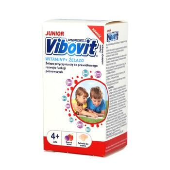 Vibovit Junior, tabletki do ssania o smaku owoców leśnych, od 4 lat, 30 szt.