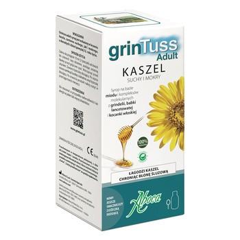 GrinTuss Adult, syrop na kaszel suchy i mokry, 128 g