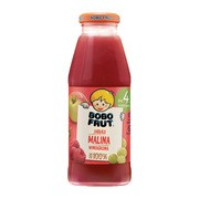 Bobo Frut 100%, sok jabłko, malina i winogrono, 4 m+, 300 ml