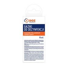 DOZ Product gaziki do dezynfekcji nasączone alkoholem izopropylowym, 10 szt.