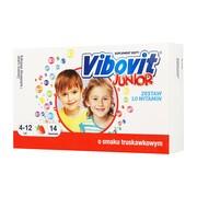 Vibovit Junior proszek o smaku truskawkowym, 14 sasz.