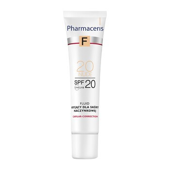 Pharmaceris F, fluid kryjący dla skóry naczynkowej, Nude 20, 30 ml