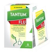 Tantum FLU o smaku cytrynowym, 600 mg+10 mg, proszek do sporządzania roztworu doustnego, 10 saszetek
