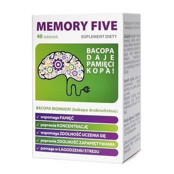 Memory Five, (Bakozin), tabletki, 40 szt.