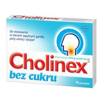 Cholinex, 150 mg, pastylki do ssania (bez cukru), 16 szt.