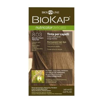 Biokap Nutricolor Delicato, farba do włosów, 8.03 jasny naturalny blond, 140 ml