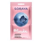 Soraya foodie, odżywcza maseczka do twarzy, jagoda, 2 x 5 ml
